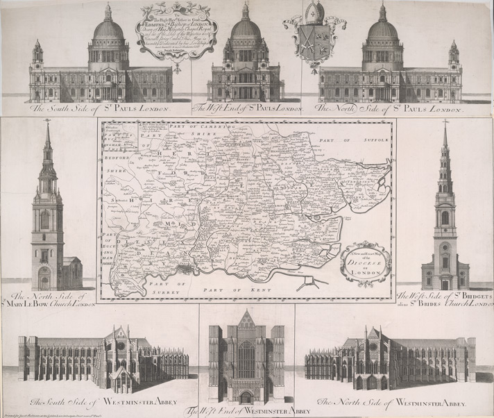 A New and Exact Map of the DIOCESE OF LONDON